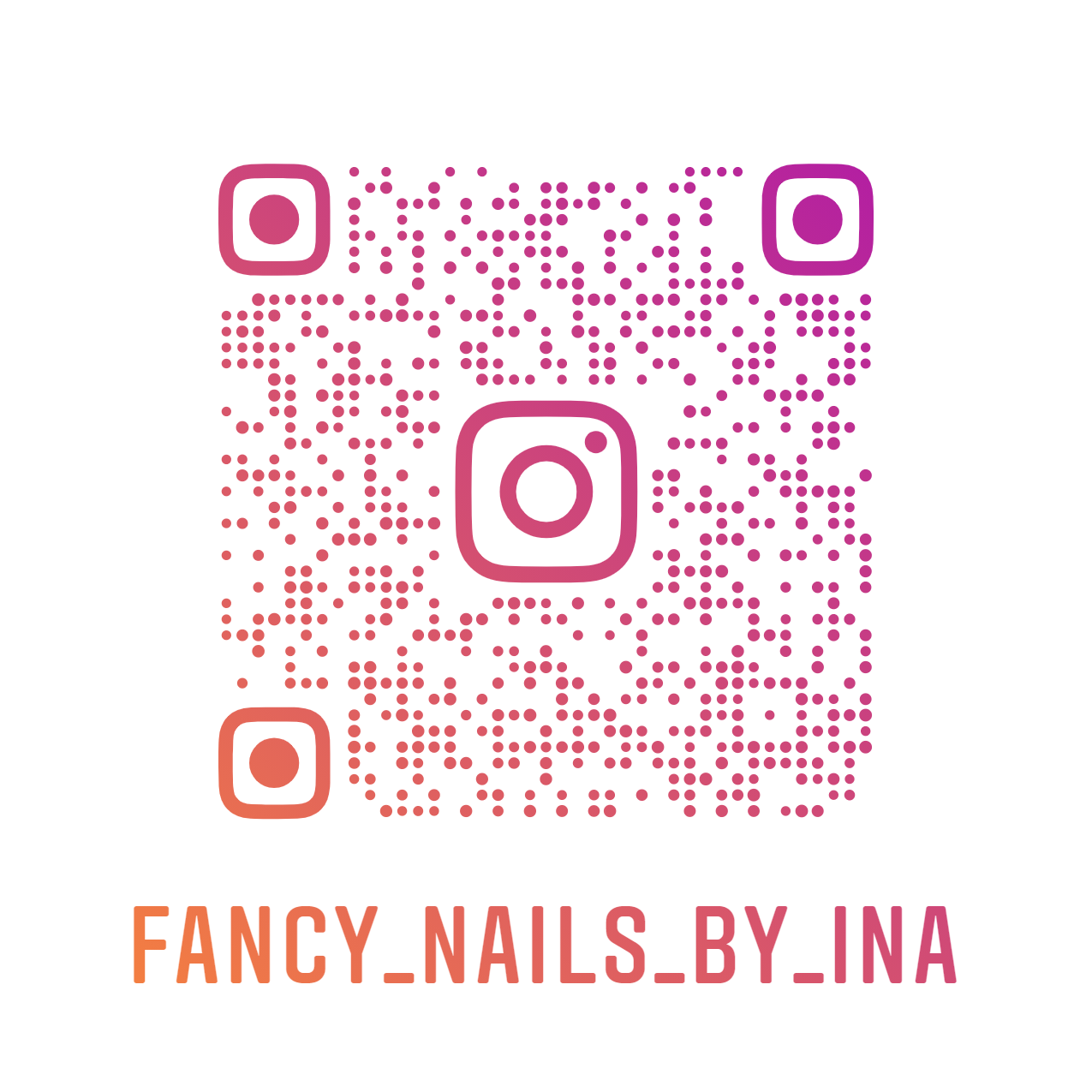 Fancy Nails by Ina Nametag Instagram